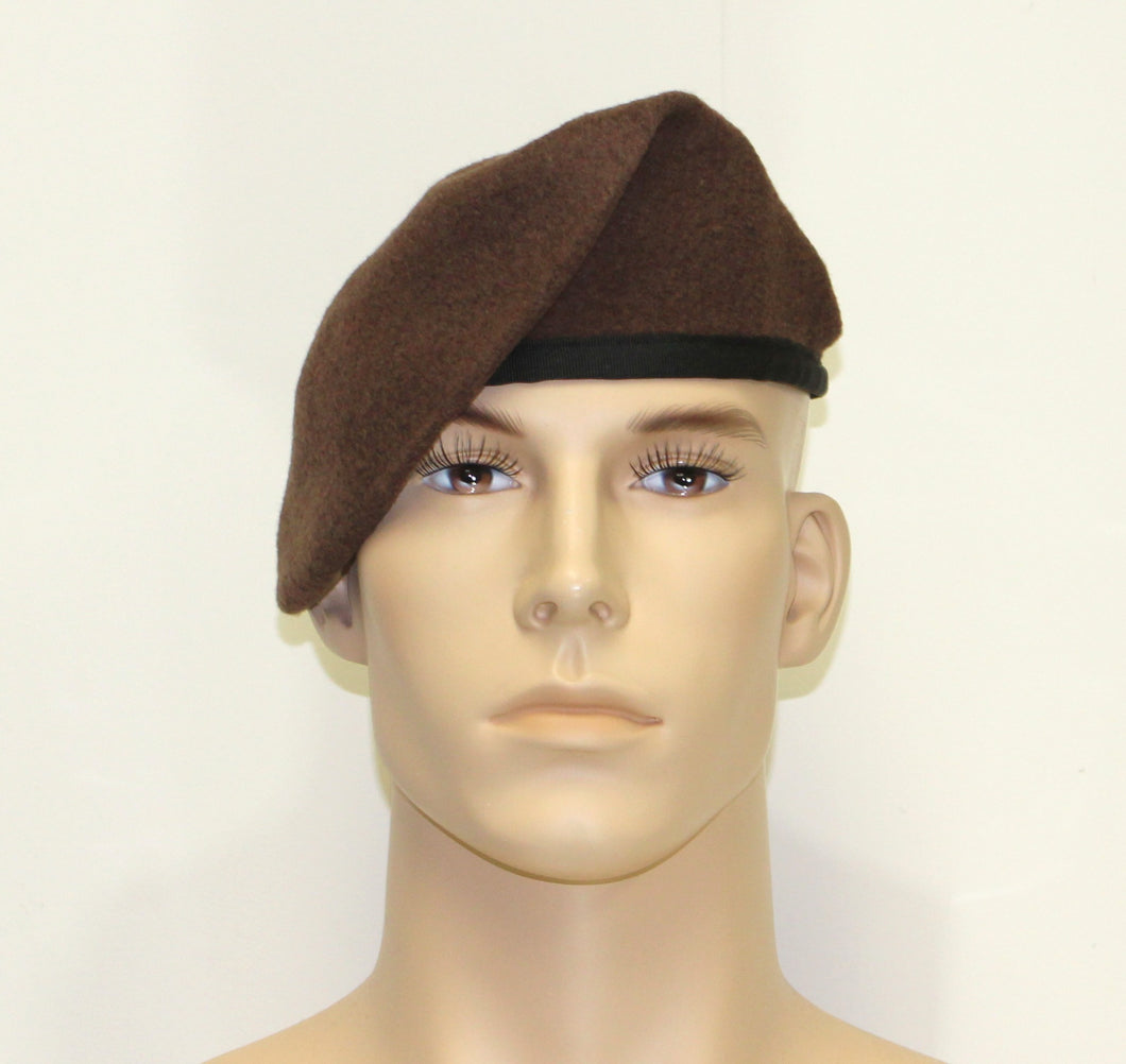 SHAVE/SHAPE BROWN BERET - 810BRN