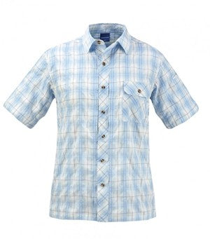 SHIRT COVERT L. BLUE PLAID - F5352-OV-467