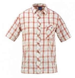 SHIRT COVERT BRICK PLAID - F5352-OV-610