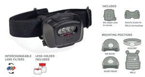 HEADLAMP QUAD TACT MPLS TAN - QUAD-NOD-TAN