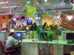 drunken decorated office