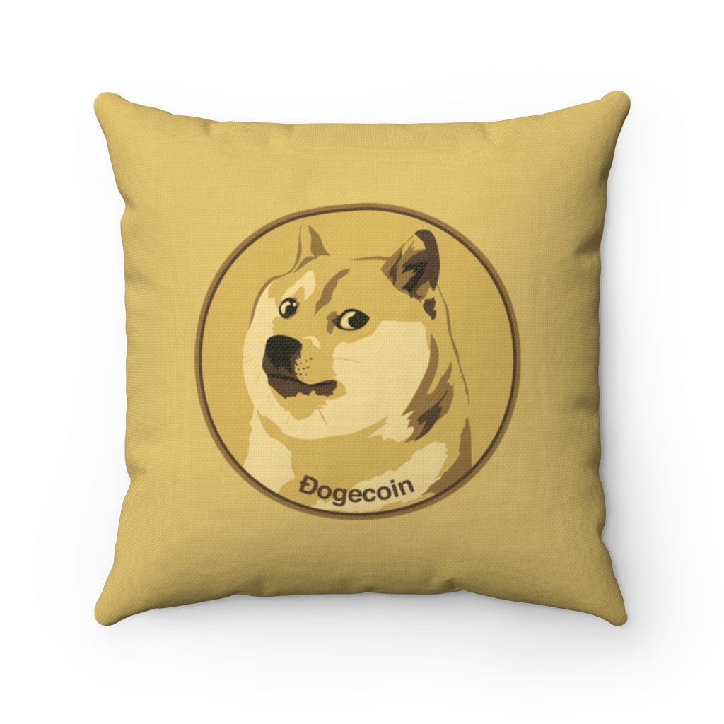 Dogecoin cryptocurrency pillow $DOGE