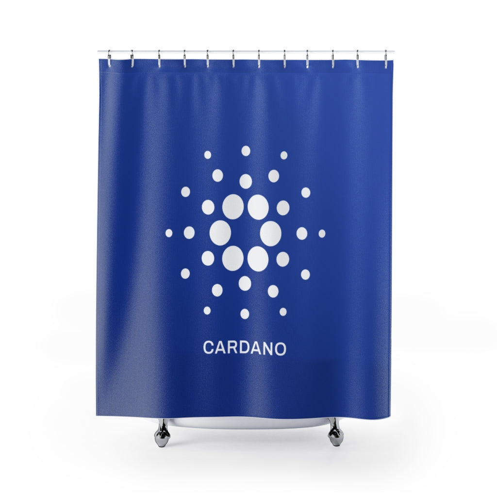 Cardano (ADA) Cryptocurrency Symbol Shower Curtains