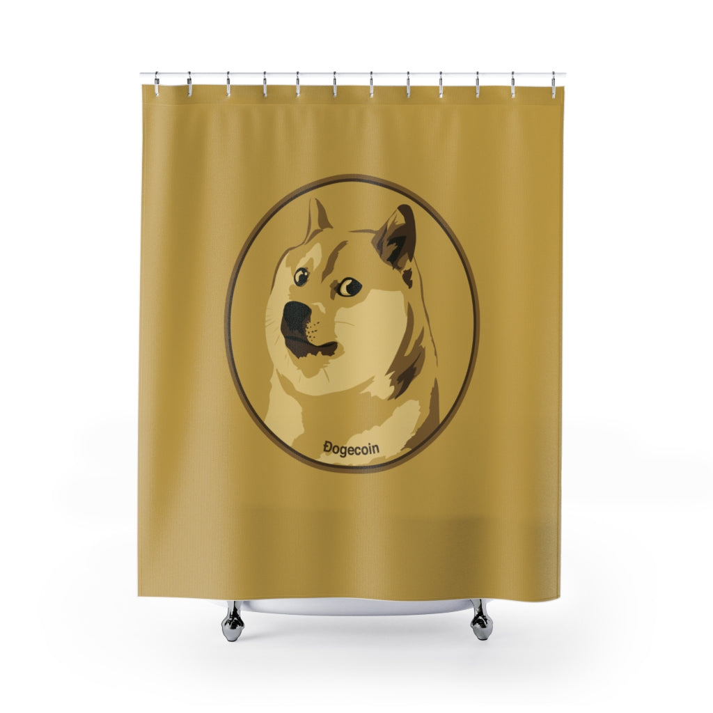 NEW Dogecoin cryptocurrency Shower Curtains $DOGE