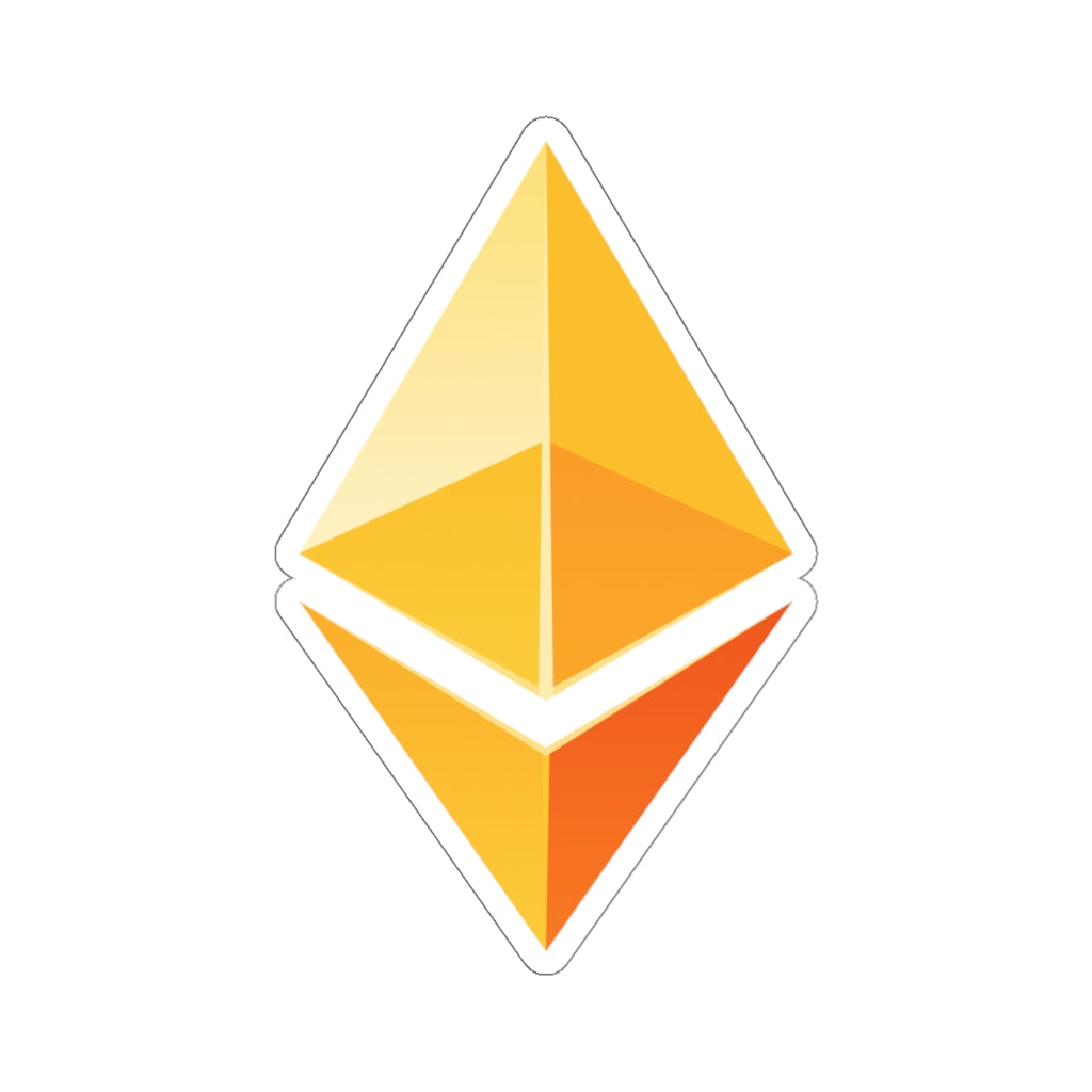 Ethereum ETH Stickers Yellow