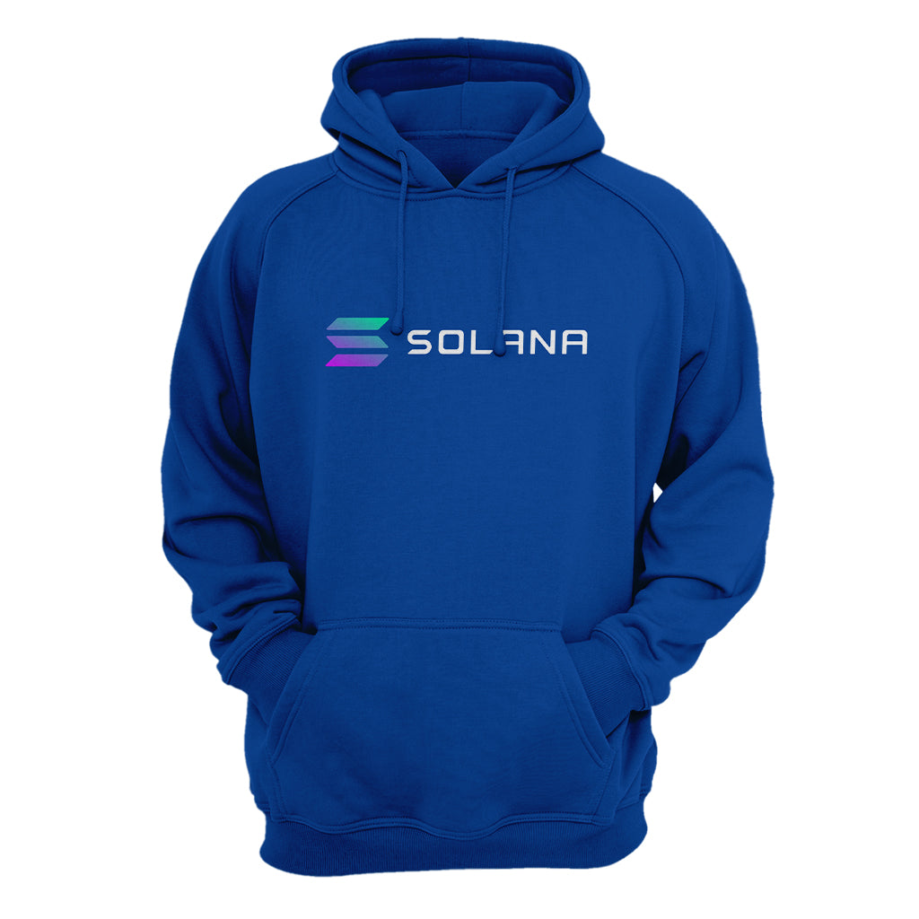 Solana (SOL) Cryptocurrency Symbol  Hooded Sweatshirt