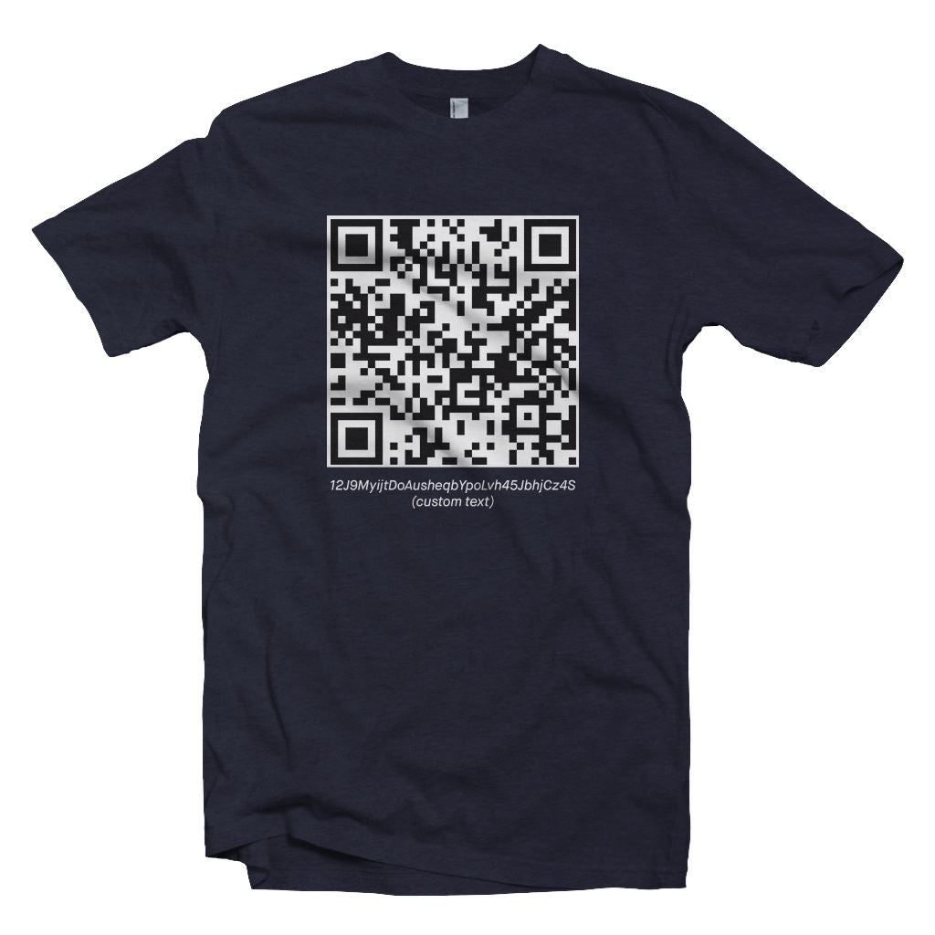 Custom Crypto QR Code Shirt T-Shirt2 - Crypto Wardrobe Bitcoin Ethereum Crypto Clothing Merchandise Gear T-shirt hoodie