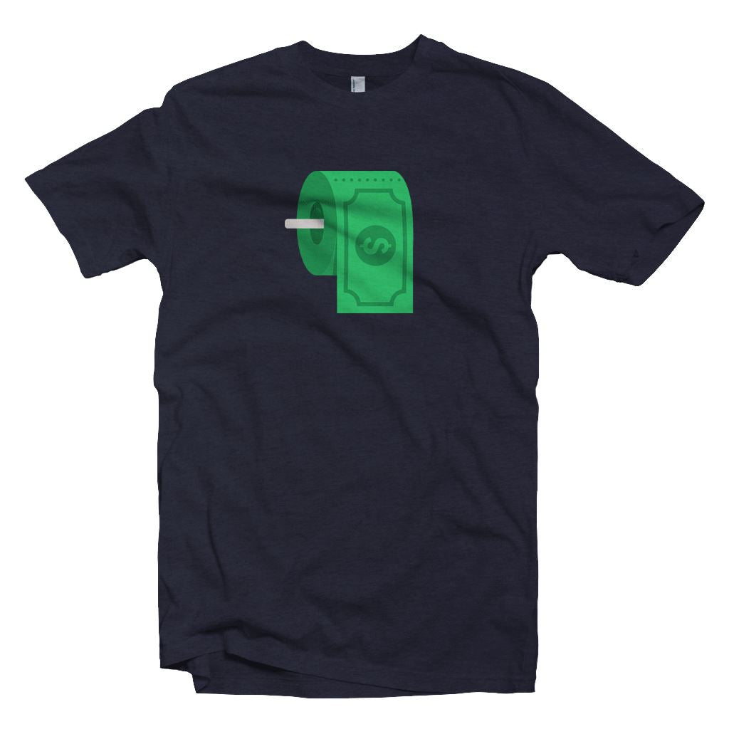Dollar Toilet Paper T-Shirt2 - Crypto Wardrobe Bitcoin Ethereum Crypto Clothing Merchandise Gear T-shirt hoodie