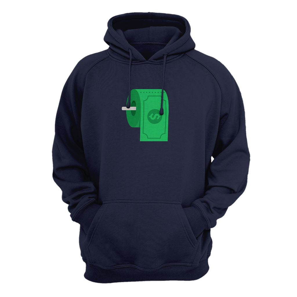 Dollar Toiler Paper Hoodie - Crypto Wardrobe Bitcoin Ethereum Crypto Clothing Merchandise Gear T-shirt hoodie