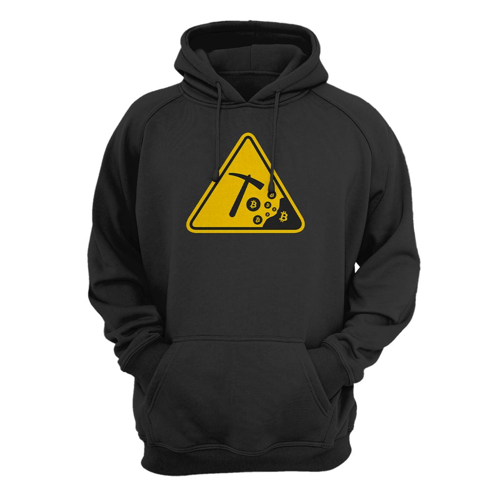 Careful - Bitcoin Mining Hoodie - Crypto Wardrobe Bitcoin Ethereum Crypto Clothing Merchandise Gear T-shirt hoodie
