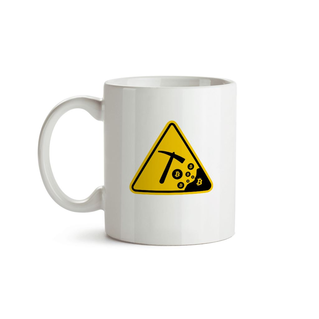 Careful - Bitcoin Mining Mug - Crypto Wardrobe Bitcoin Ethereum Crypto Clothing Merchandise Gear T-shirt hoodie