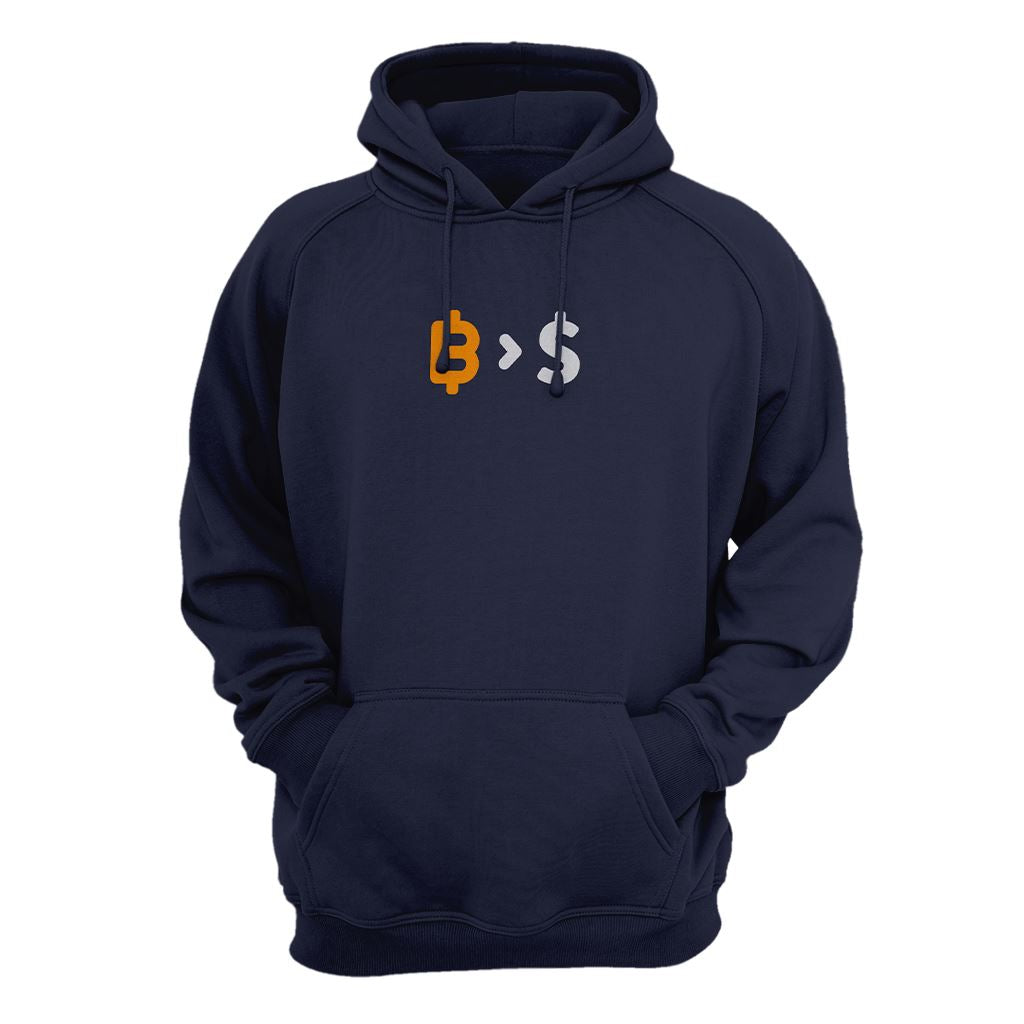 Bitcoin Over Fiat (Dollar) Hoodie - Crypto Wardrobe Bitcoin Ethereum Crypto Clothing Merchandise Gear T-shirt hoodie