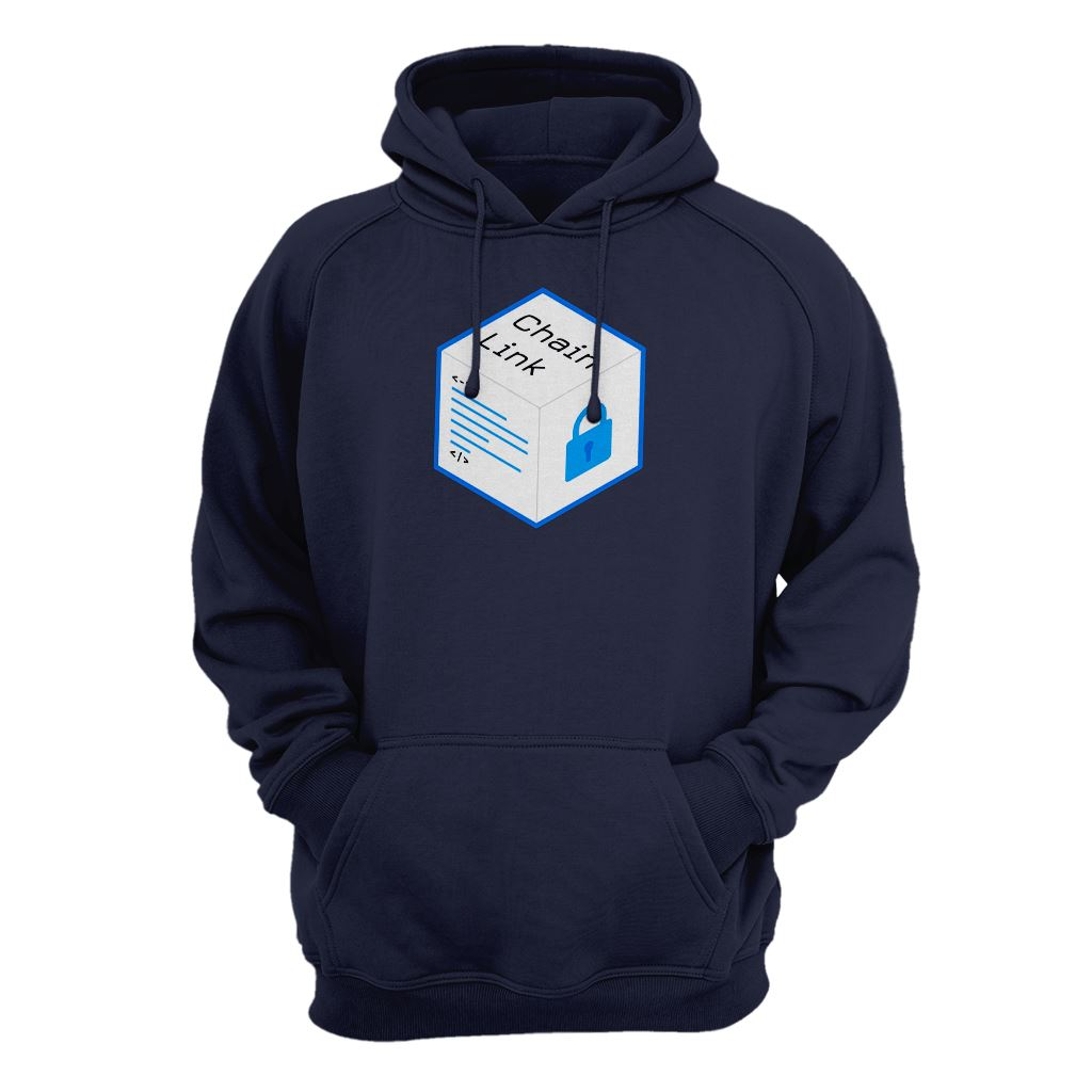 Old Chainlink LINK Cryptocurrency Logo Hoodie