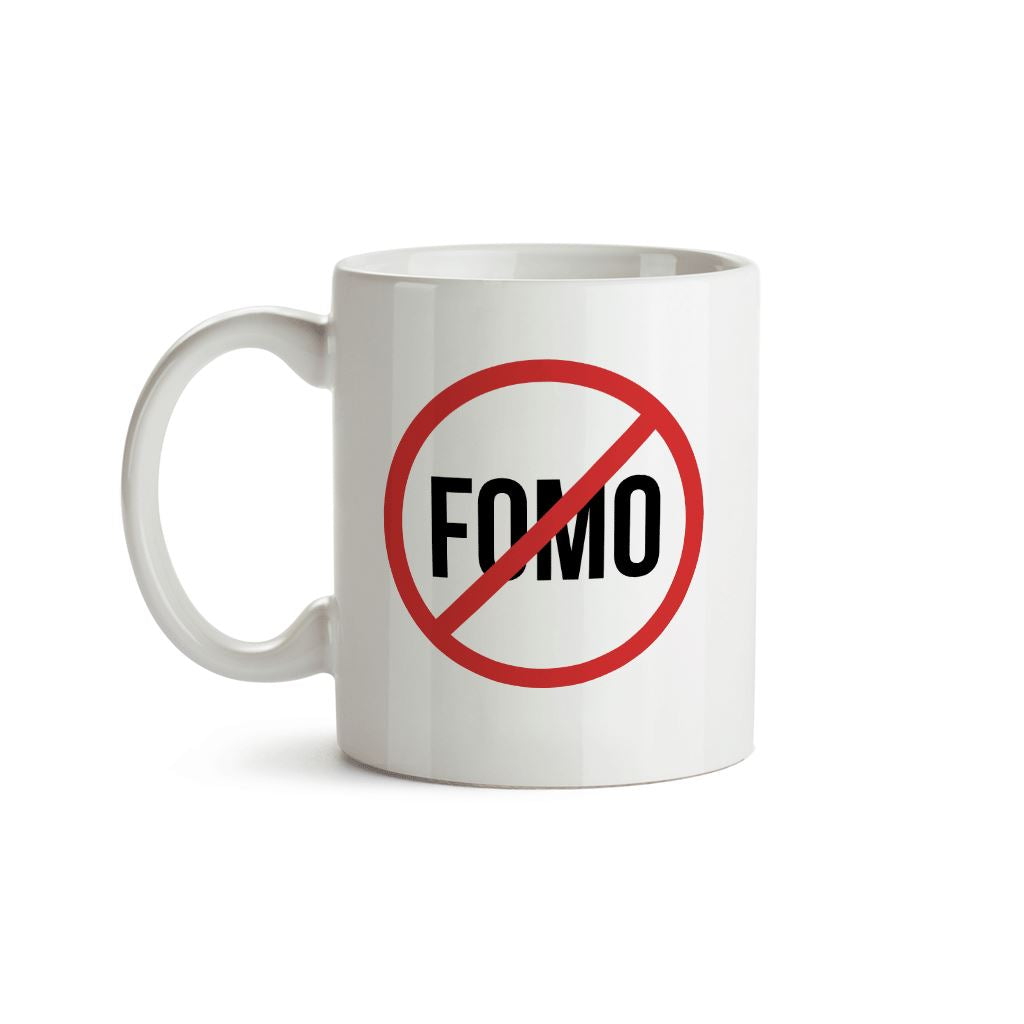 No Fomo (Fear Of Missing Out) Mug - Crypto Wardrobe Bitcoin Ethereum Crypto Clothing Merchandise Gear T-shirt hoodie