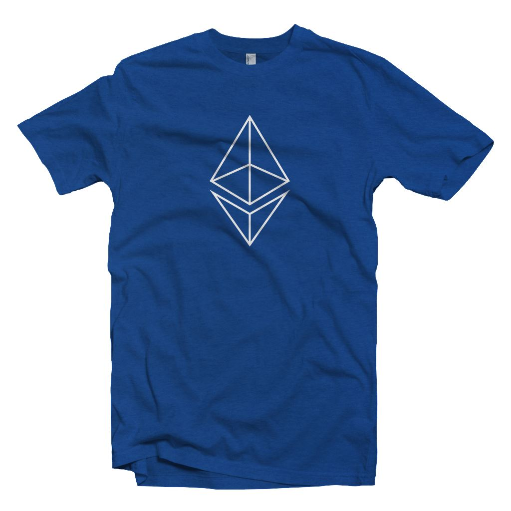 Ethereum Outline Logo T-Shirt2 - Crypto Wardrobe Bitcoin Ethereum Crypto Clothing Merchandise Gear T-shirt hoodie