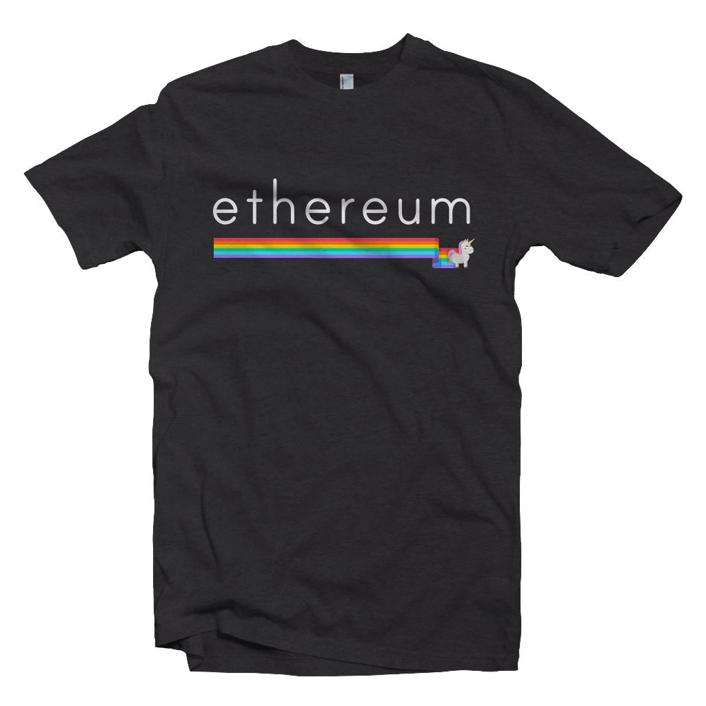 Ethereum Unicorn Rainbow T-Shirt2 - Crypto Wardrobe Bitcoin Ethereum Crypto Clothing Merchandise Gear T-shirt hoodie