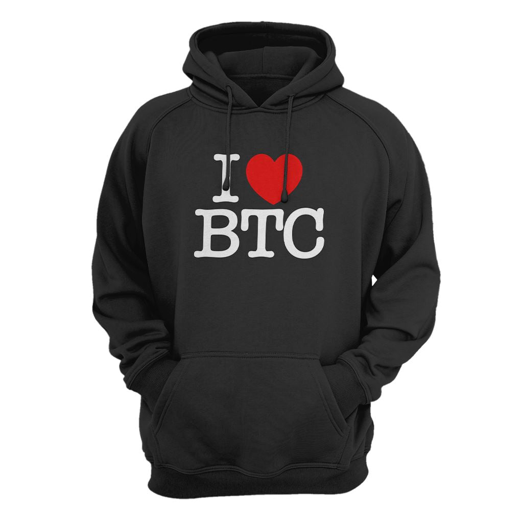 I Love Bitcoin Hoodie - Crypto Wardrobe Bitcoin Ethereum Crypto Clothing Merchandise Gear T-shirt hoodie