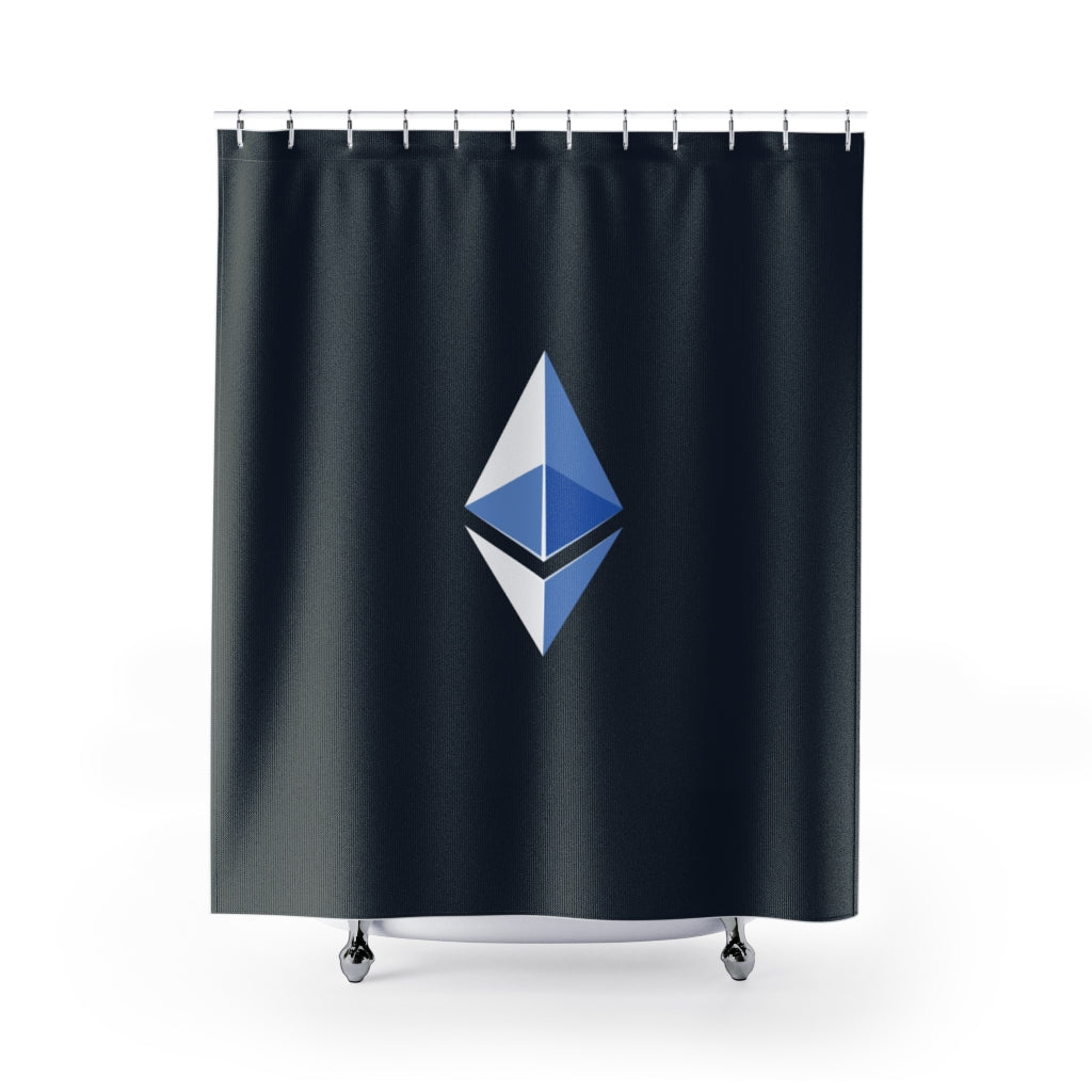 Ethereum ETH symbol shower curtains