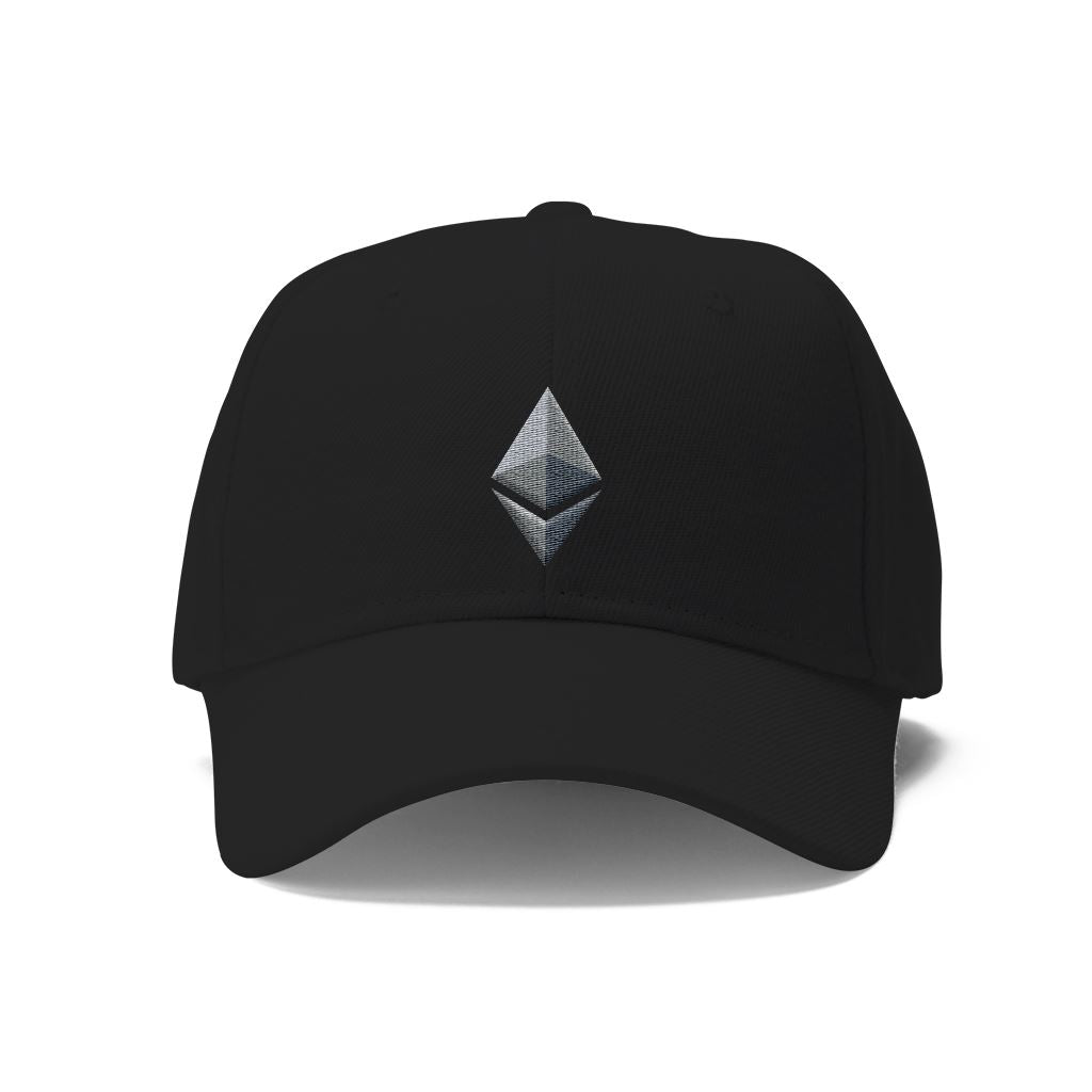 Ethereum Twill Hat Hats - Crypto Wardrobe Bitcoin Ethereum Crypto Clothing Merchandise Gear T-shirt hoodie