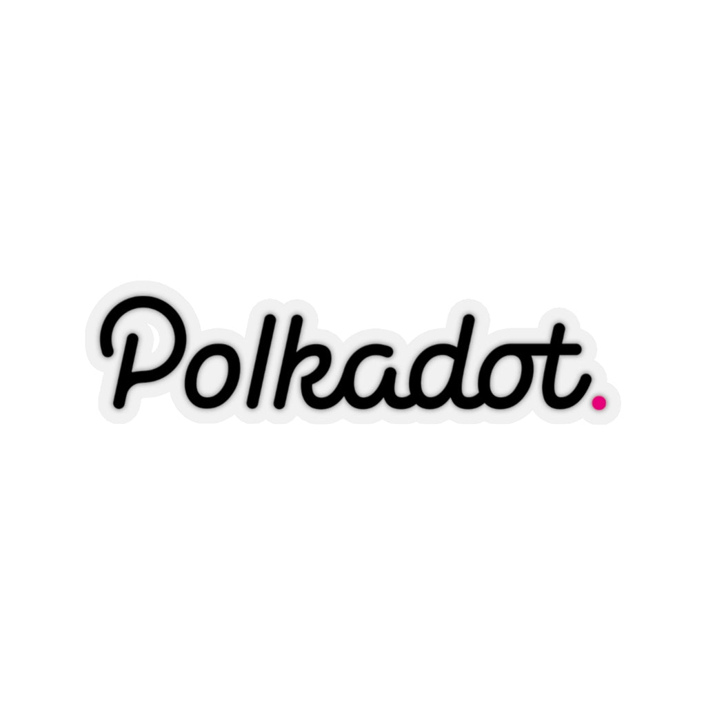 Polkadot (DOT) Cryptocurrency Symbol Black Stickers