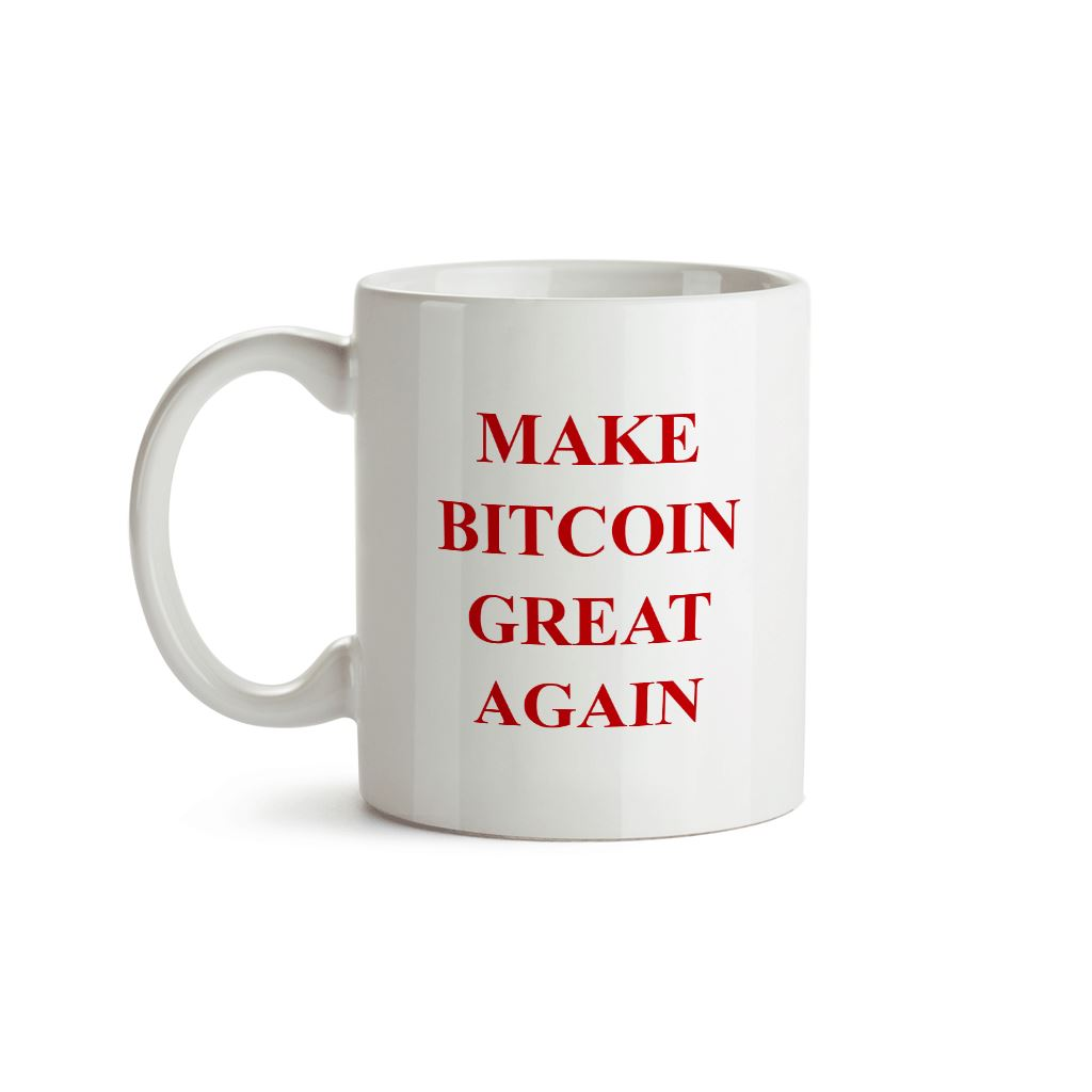 Make Bitcoin Great Again Mug - Crypto Wardrobe Bitcoin Ethereum Crypto Clothing Merchandise Gear T-shirt hoodie