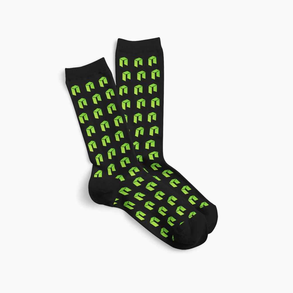 Neo Cryptocurrency Logo Symbol Socks