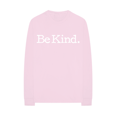 Be Kind Pink Long Sleeve T-Shirt