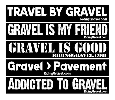 Riding Gravel Sticker Pack - Entire Collection