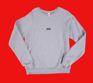 One, Two, Three - Back Print Crew Neck Sweatshirt - Grey
