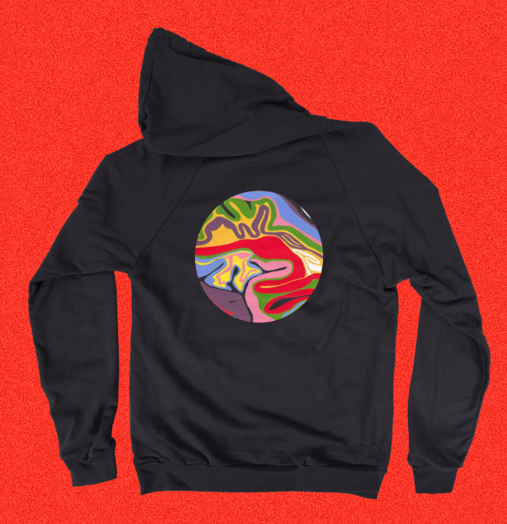 Technicolour Cabbage - Back Print Pullover Hoody
