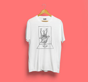 Calvary Man - Short Sleeve Front Print T-shirt - White