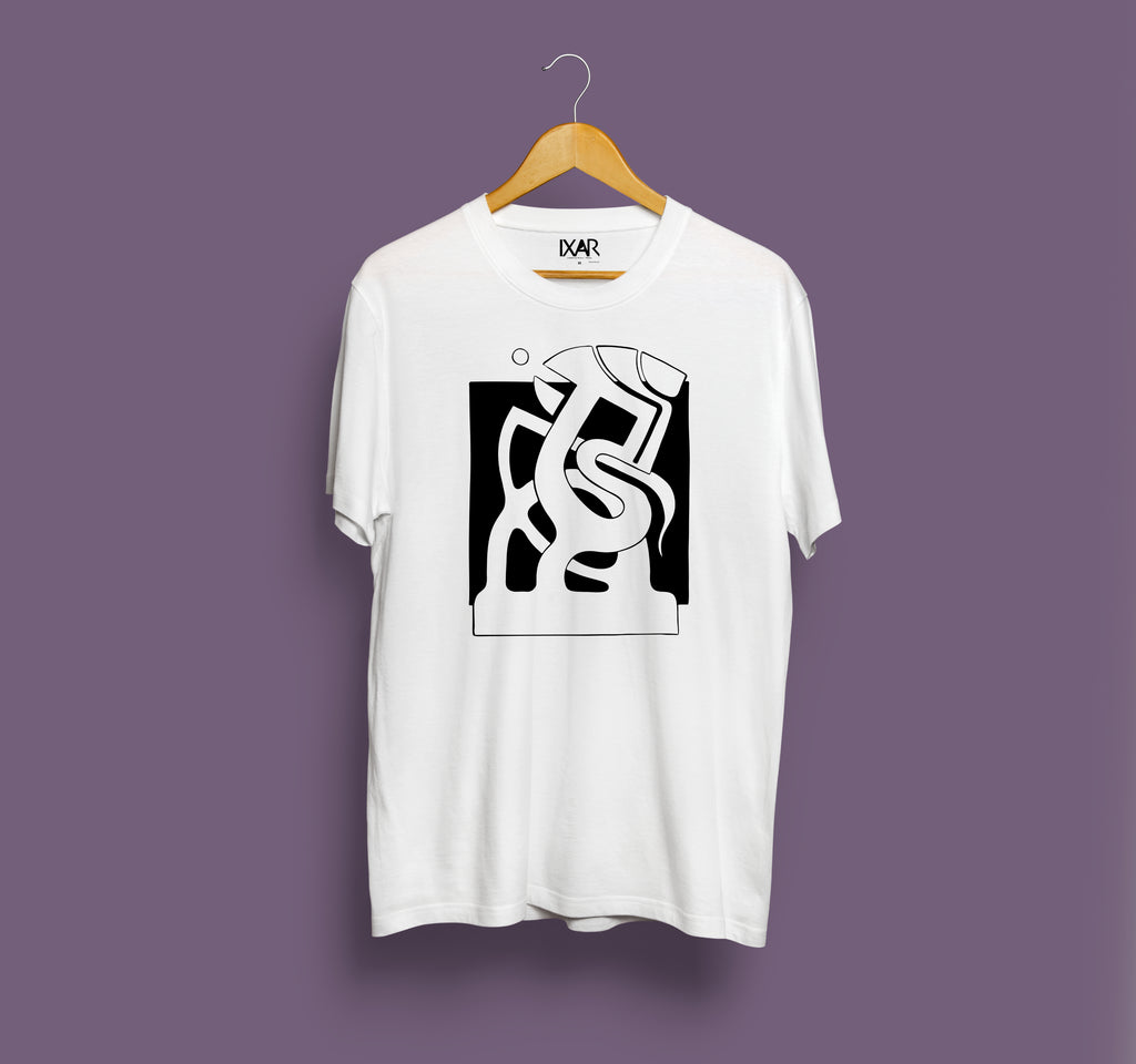 Headache - Short Sleeve Front Print T-shirt - White