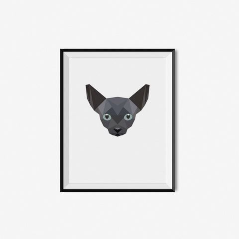 Black Siamese - Geometric Art