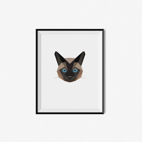 Brown Siamese - Geometric Art