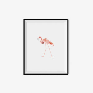 Flamingo - Geometric Art