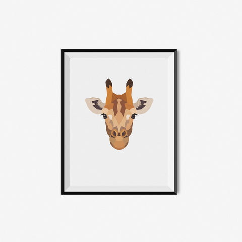 Giraffe - Geometric Art