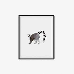 Lemur - Geometric Art