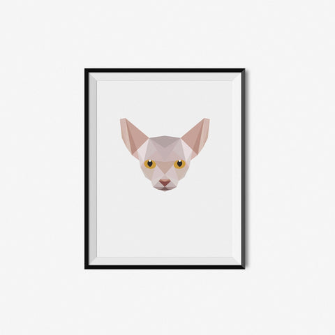 Hairless Siamese - Geometric Art