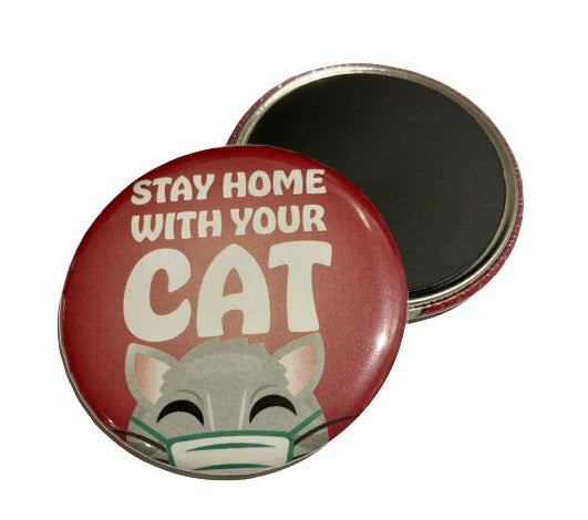 Magnet - Stay Home With Your Cat