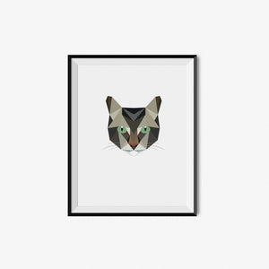 Brown Tabby - Geometric Art