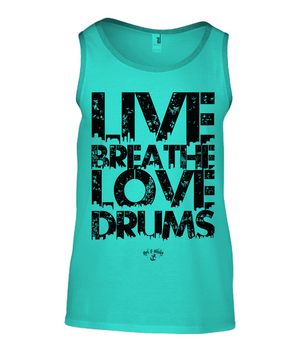 RAW Live Breathe Love Drums Vest