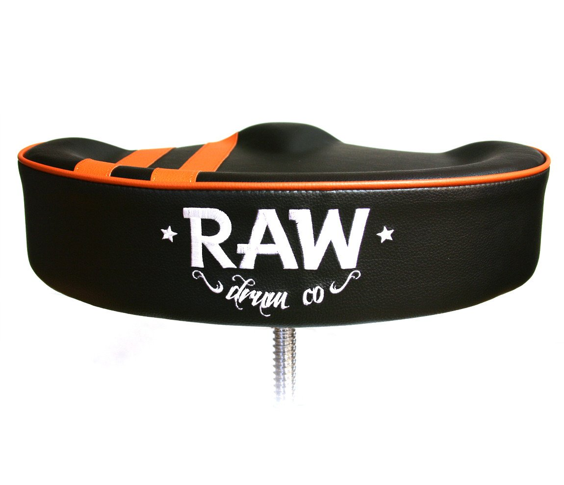 RAW 'Steve McQueen' Stripe Top Black Drum Throne, 4-Legs, RAW, Drum Thrones, Rock and Whiskey