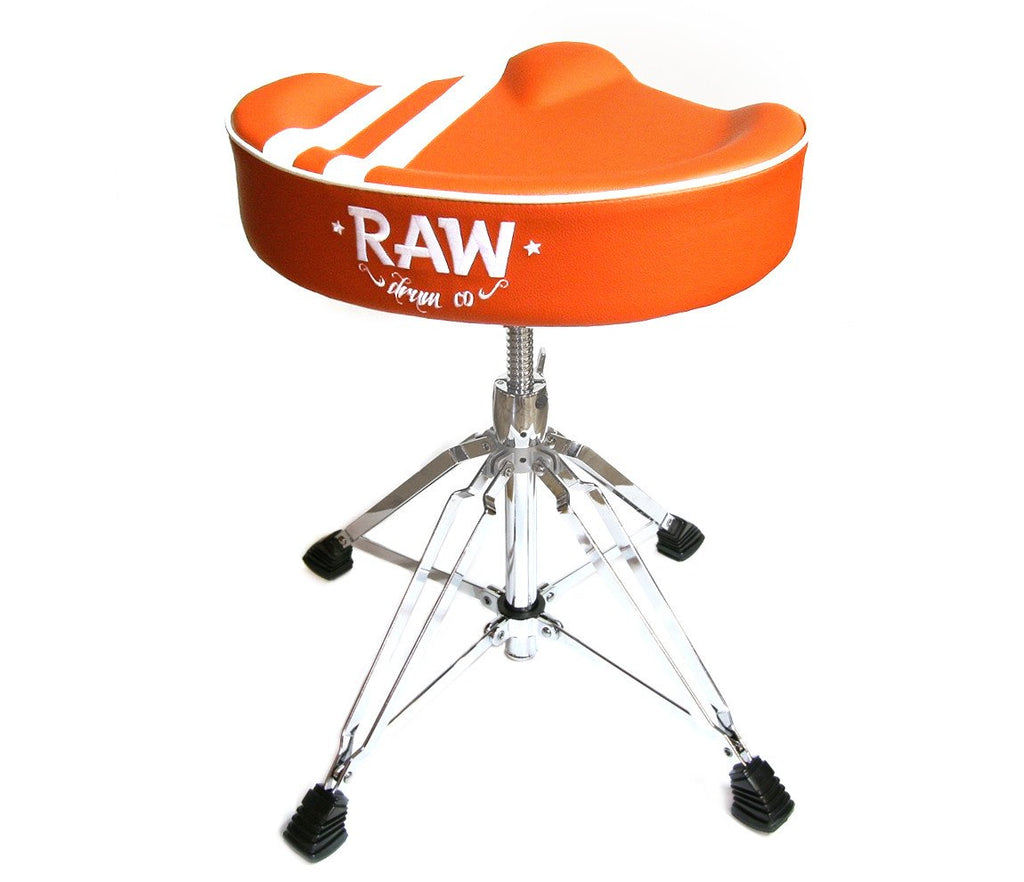 RAW 'Steve McQueen' Stripe Top Orange Drum Throne, 4-Legs, RAW, Drum Thrones, Orange, Steve McQueen