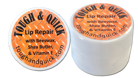 Tough & Quick Lip Balm 0.25 oz. with Beeswax, Shea Butter,Vitamin E, Coconut oil, and Almond oil