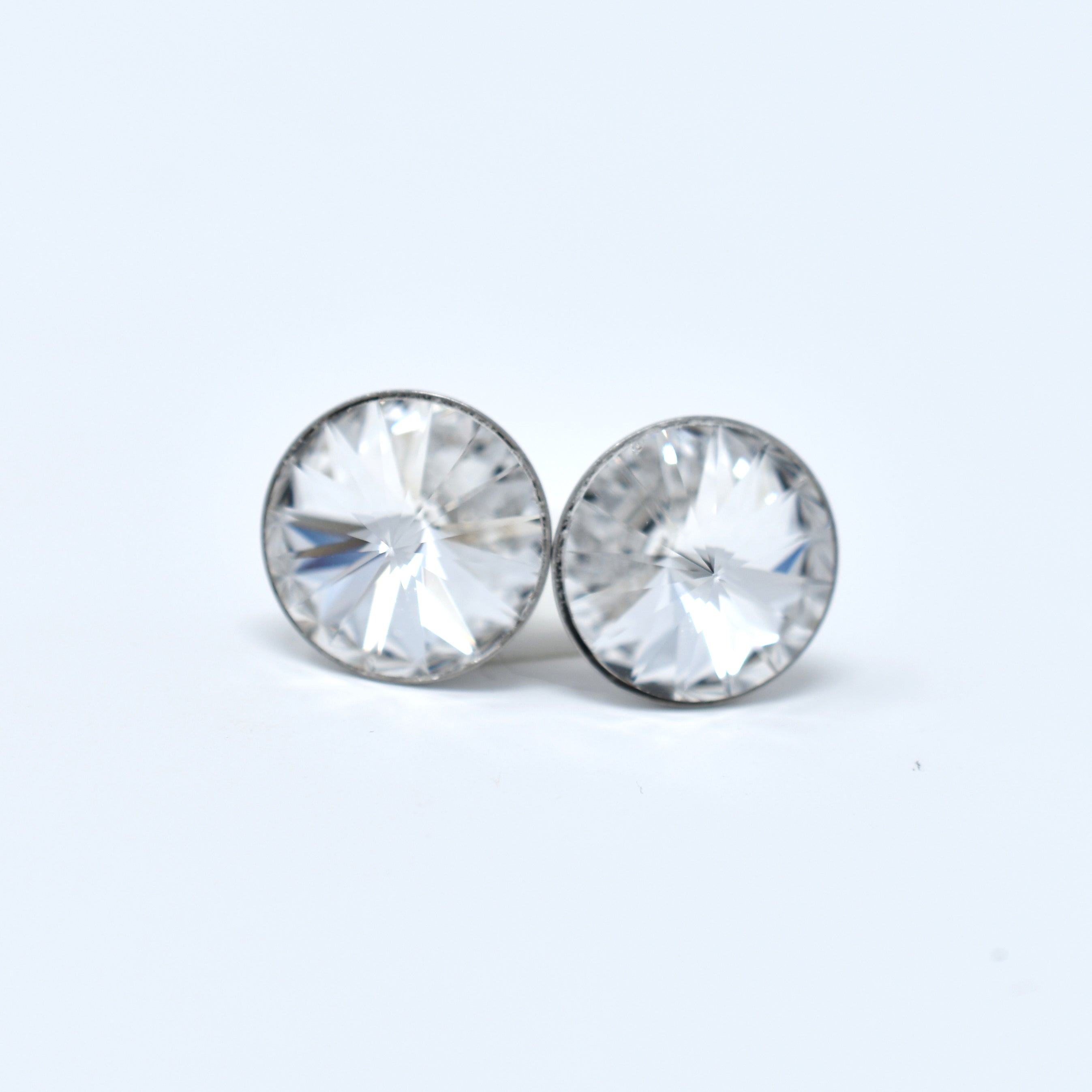 Stainless Steel Swarovski Studs - 12mm