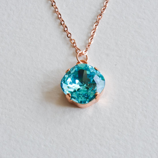 Swarovski Cushion Cut Necklace - Aloraflora Jewelry