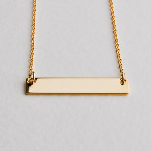 Gold Bar Necklace - Aloraflora Jewelry
