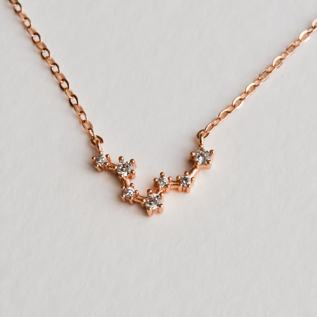Pisces Constellation Necklace - Aloraflora Jewelry