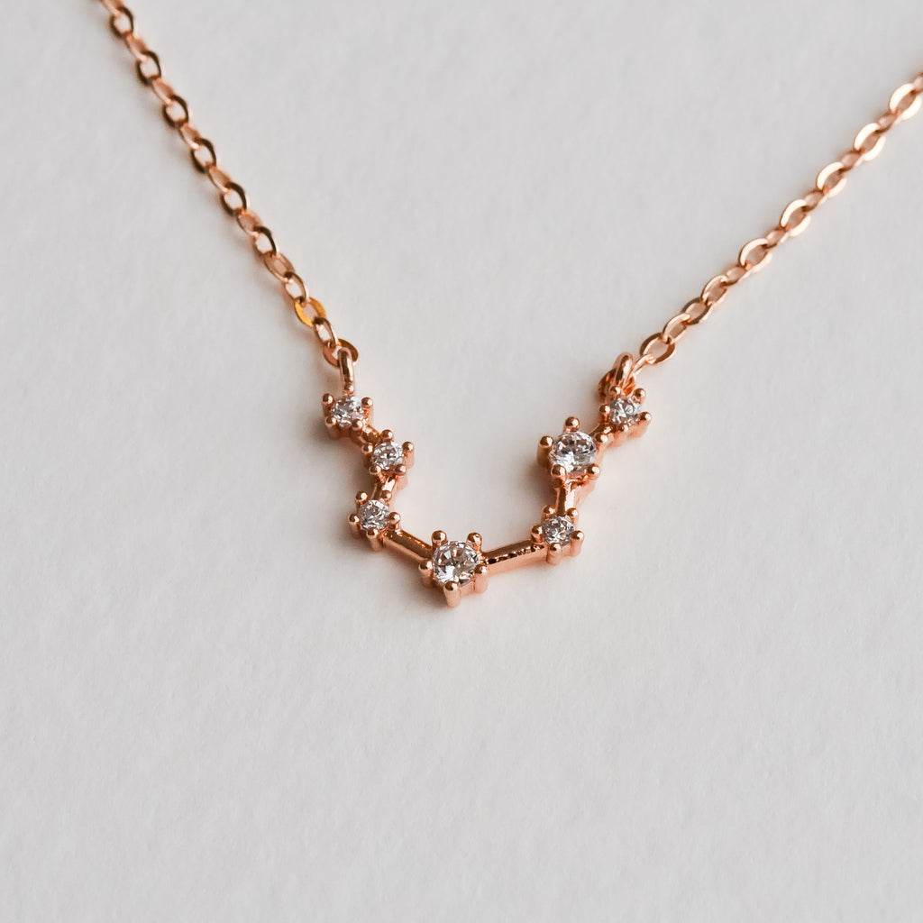 Aquarius Constellation Necklace - Aloraflora Jewelry