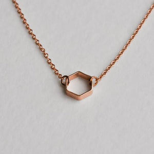 Hexagon Necklace - Aloraflora Jewelry